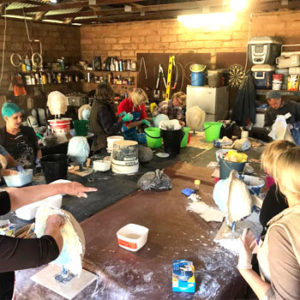 Sculpture Workshop at Rosby Winery