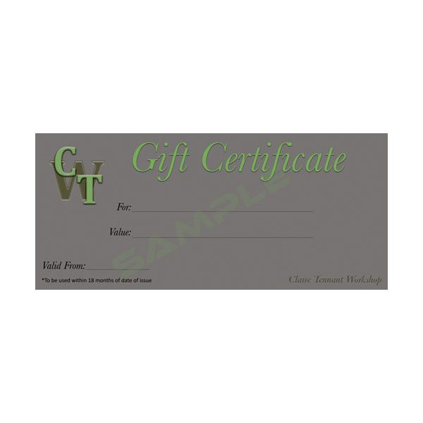 Gift Certificate - Claire Tennant Workshop